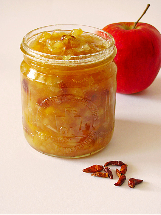 apfel mango chutney mit rosinen rezept mit bild. Black Bedroom Furniture Sets. Home Design Ideas