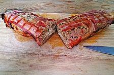 Blumenkohl-Hackbraten in Bacon mit Feta
