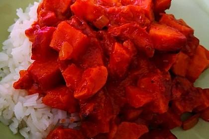 Süßkartoffel-Curry mit Kokos-Erdnuss-Soße 24
