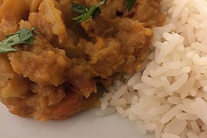 Süßkartoffel-Curry mit Kokos-Erdnuss-Soße 13