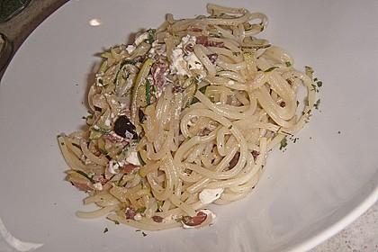 Zitronenspaghetti mit Zucchini 2