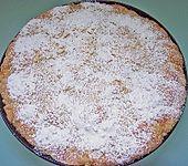 Versunkener Streuselkuchen mit Sahneguss (Bild)