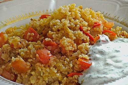 Bulgur - Pilaw mit Joghurt 5