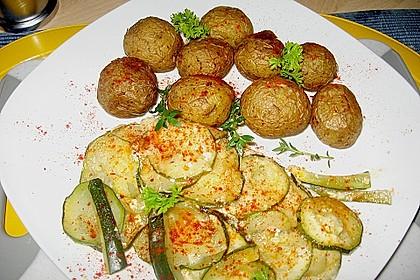 Fisch mit Zucchinischuppen
