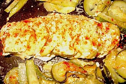 Fisch mit Zucchinischuppen 1