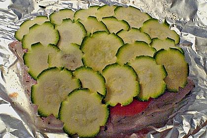 Fisch mit Zucchinischuppen 4