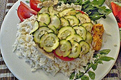 Fisch mit Zucchinischuppen 5