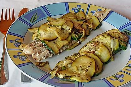 Fisch mit Zucchinischuppen 6