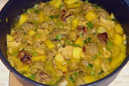 Curry - Reis Pfanne
