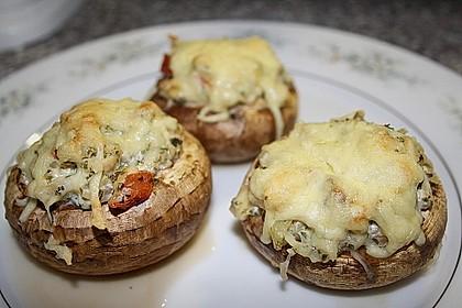 Gefüllte Champignons (vegetarisch) 4