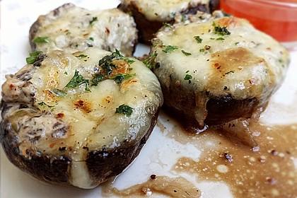 Gefüllte Champignons (vegetarisch)