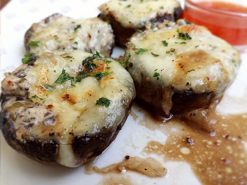 gef llte champignons vegetarisch rezept mit bild. Black Bedroom Furniture Sets. Home Design Ideas
