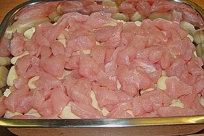 Auflauf mit Gnocchi, Pute und Champignons 16