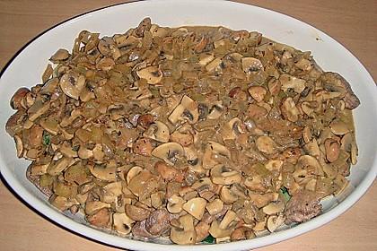 Auflauf mit Gnocchi, Pute und Champignons 8