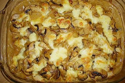 Auflauf mit Gnocchi, Pute und Champignons 4