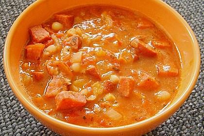 Serbische Bohnensuppe 24
