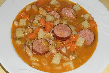 Serbische Bohnensuppe 7