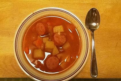 Serbische Bohnensuppe 16