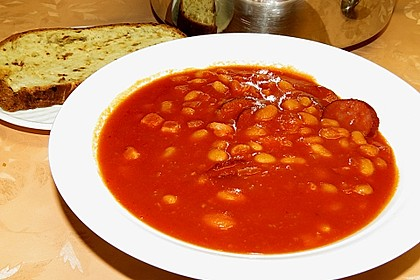 Serbische Bohnensuppe 11