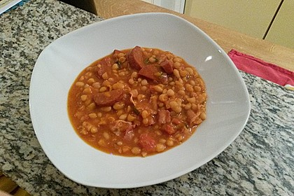 Serbische Bohnensuppe 4
