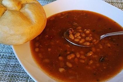 Serbische Bohnensuppe 5