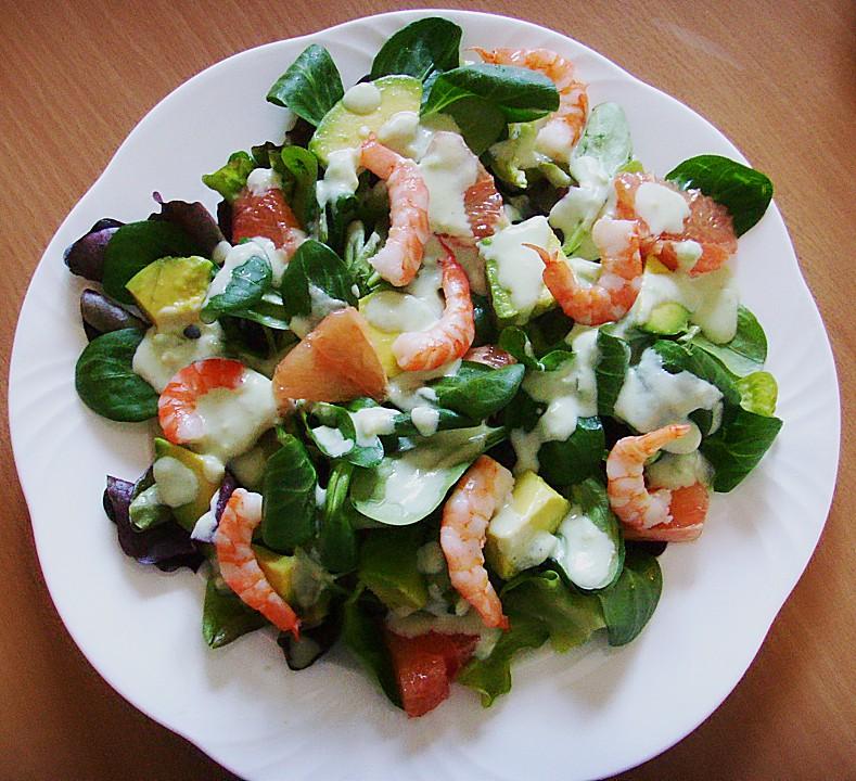 avocado shrimps salat ein schmackhaftes rezept. Black Bedroom Furniture Sets. Home Design Ideas