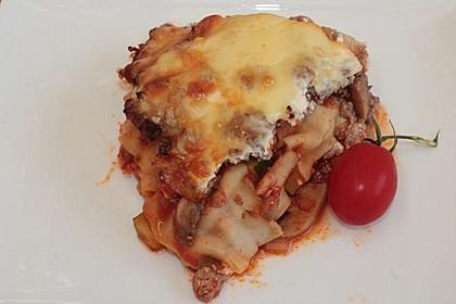 Fitness - Lasagne mit Tomaten, Zucchini und Pilzen 2