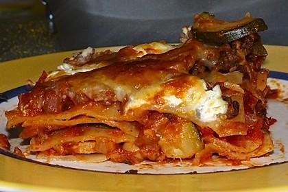 Fitness - Lasagne mit Tomaten, Zucchini und Pilzen 4