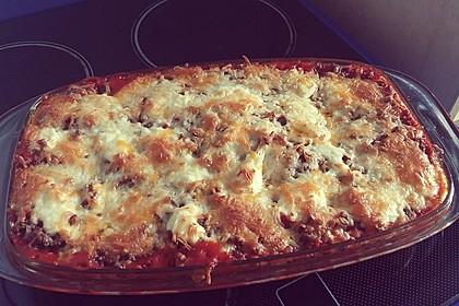 Fitness - Lasagne mit Tomaten, Zucchini und Pilzen