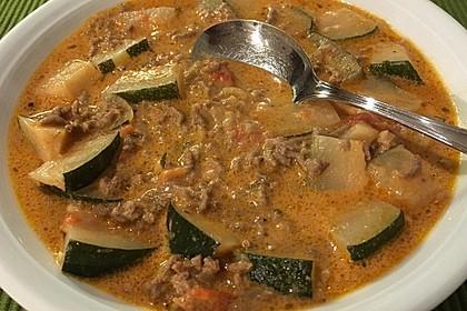 Käse-Hack-Suppe mit Zucchini 1