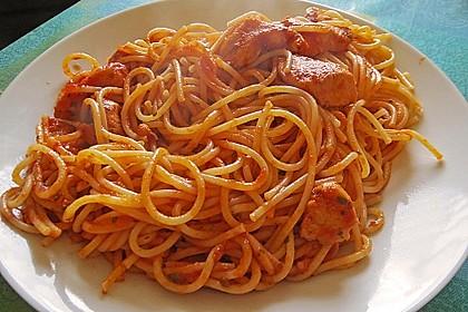 Spaghetti con pollo 1
