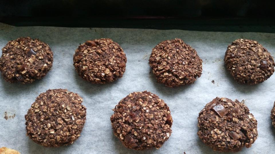 schokoladen bananen cookies rezept mit bild von willmsport. Black Bedroom Furniture Sets. Home Design Ideas