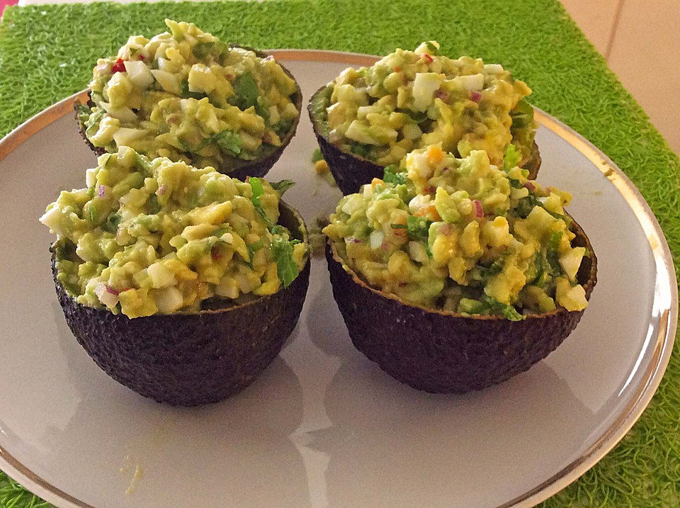 avocado eier salat colombienne von pannepot. Black Bedroom Furniture Sets. Home Design Ideas