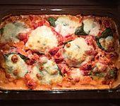 Gnocchiauflauf mit Tomaten und Mozzarella (Bild)