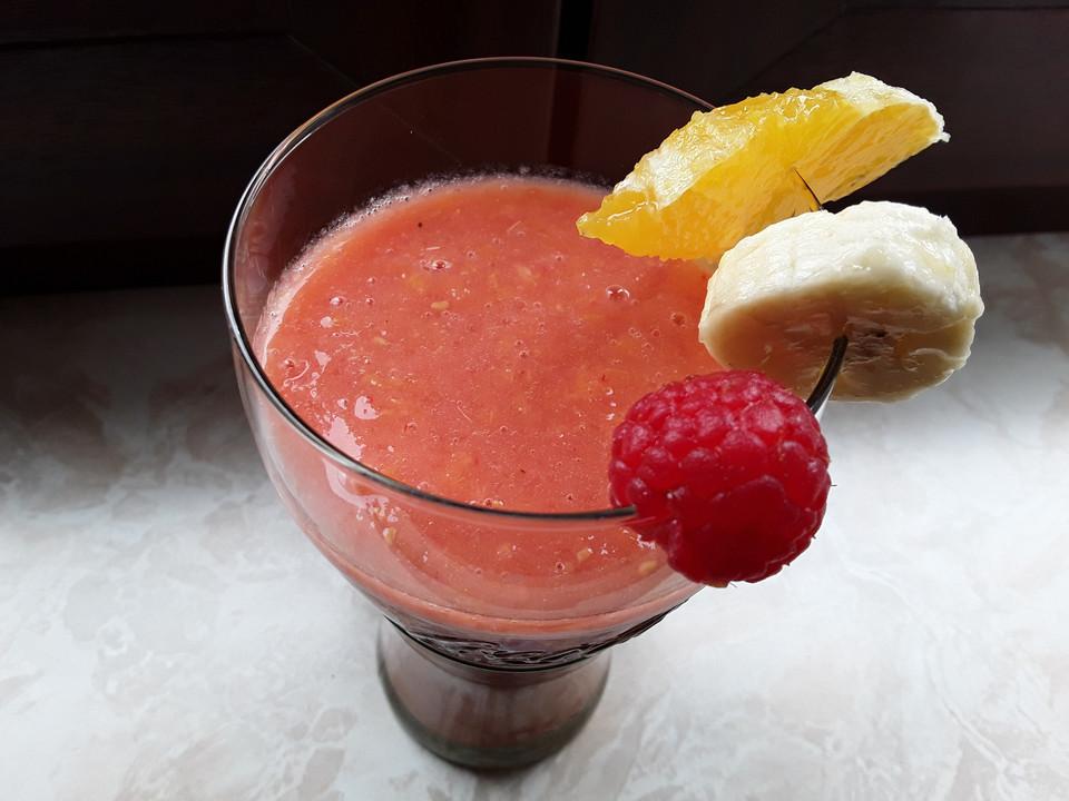 himbeer banane smoothie mit orange rezept mit bild. Black Bedroom Furniture Sets. Home Design Ideas