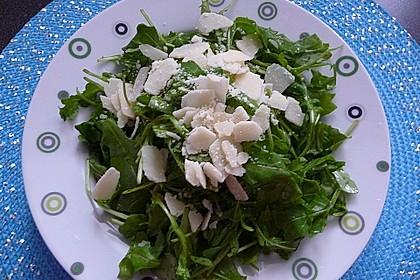 Rucola Salat mit einem Balsamico-Honig-Kürbiskernöl Dressing