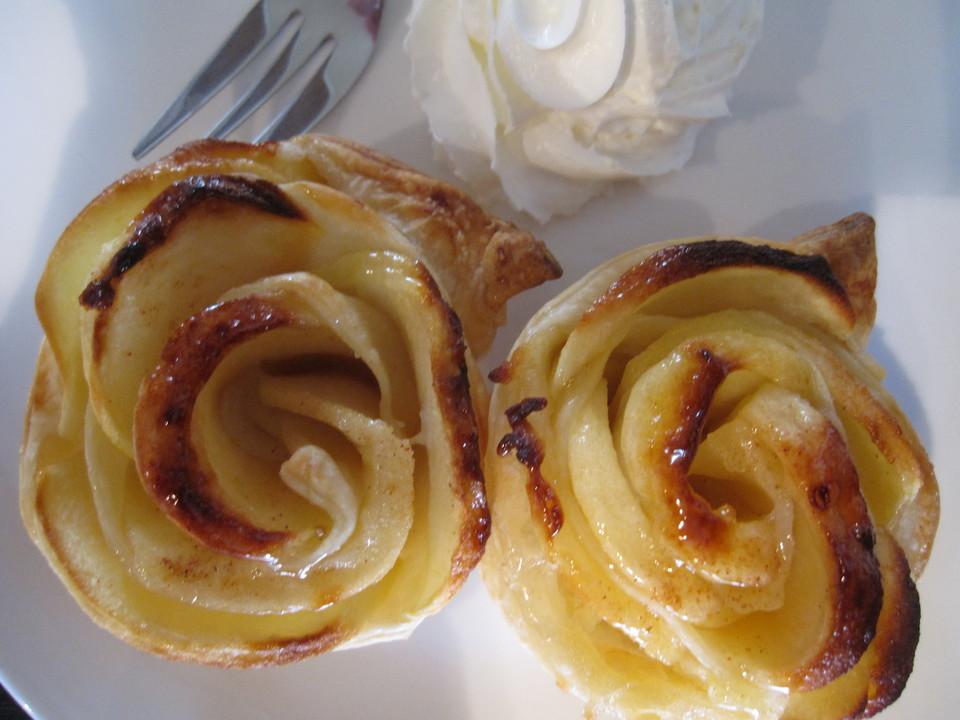 apfel rosen muffins rezept mit bild von bl mchen 77. Black Bedroom Furniture Sets. Home Design Ideas