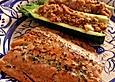 Lachs mit gefüllten Zucchini