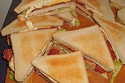Sandwich mit Teriyaki-Hähnchen