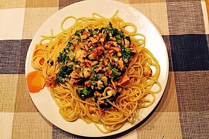Nudeln mit Lachs, Spinat und Ziegenkäse 3