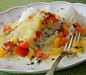 Fisch-Paprika-Sahne-Auflauf