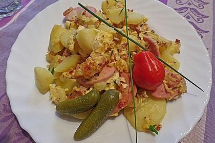 Westfälisches Bauernfrühstück mit Fleischwurst