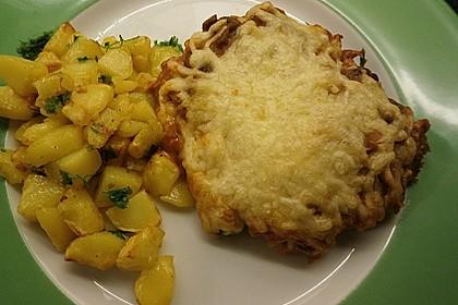 """""""Alte Schnitzel"""" - ein Auflauf mit Schnitzeln, Schinken und Champignons 1"""