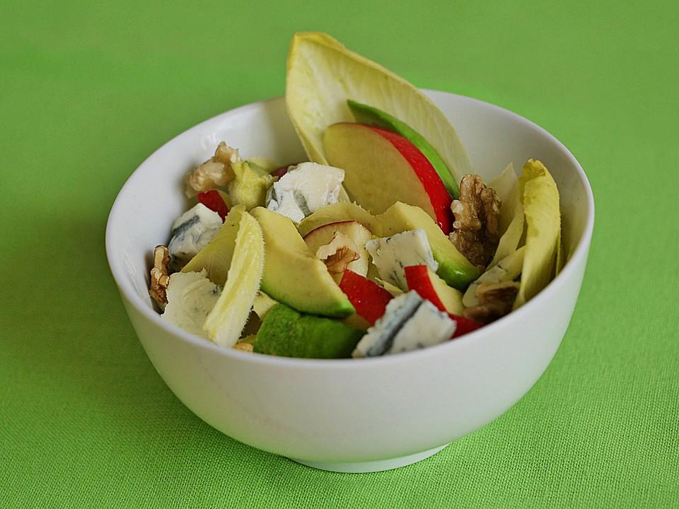 chicoree avocado apfel salat rezept mit bild von ars vivendi. Black Bedroom Furniture Sets. Home Design Ideas