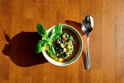Spinat mit Kichererbsen in Kokosmilch 1
