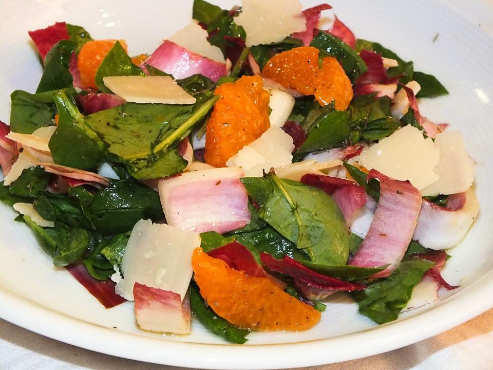 chicor e spinat salat mit clementinen rezept mit bild. Black Bedroom Furniture Sets. Home Design Ideas