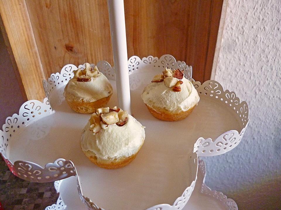 bananen cupcakes mit frischk se topping rezept mit bild. Black Bedroom Furniture Sets. Home Design Ideas