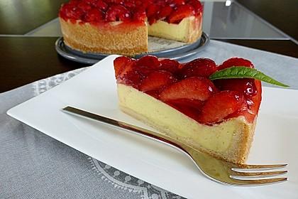 Erdbeer-Käsekuchen-Schnitten