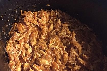 Pulled Chicken in einer Honey-Mustard-BBQ Sauce 9