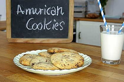 American Cookies - Double-Chocolate Chip Cookies 1